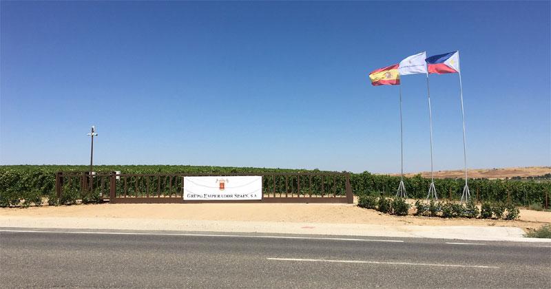 Emperador's vineyard in Toledo, Spain spans across more than 1,000 hectares.