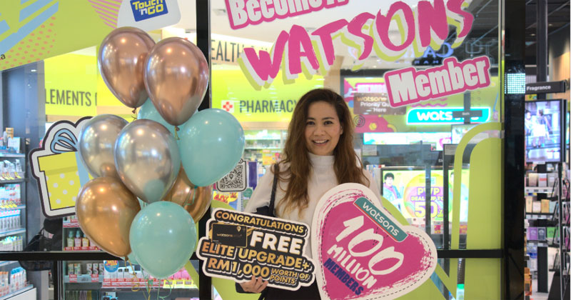 """Rozanah, the 100-millionth member who signed up on 16th October at the Pavilion Watsons store in Malaysia, comments: """"The thing I like the most about Watsons is the Do Good Feel Great motto which shows a very strong social purpose, something that really clicks with me."""""""