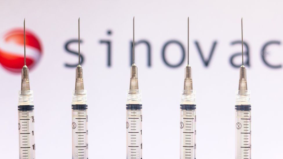 Sinovac, a Beijing-based biopharmaceutical company, is behind the creation of CoronaVac, an inactivated vaccine.