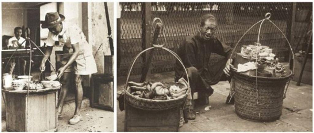 dan dan noodles street vendor