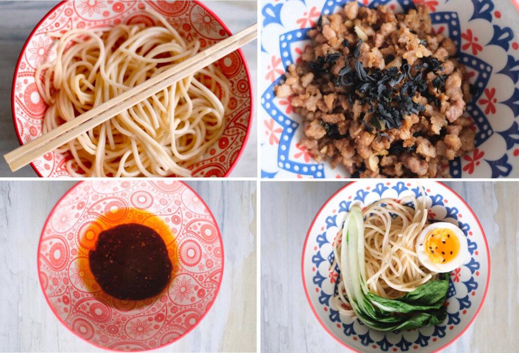 sichuan noodles preparation