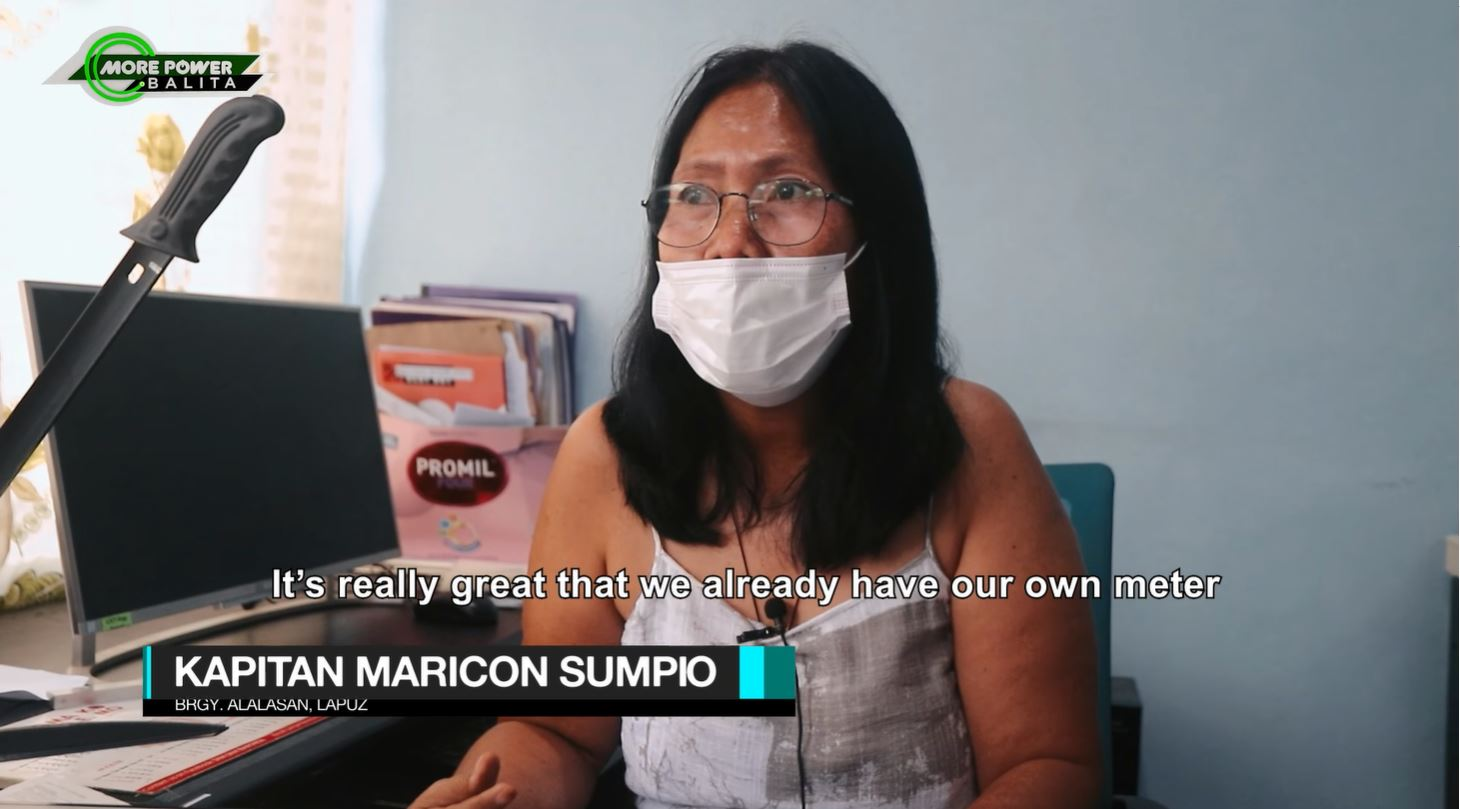 According to Brgy. Captain Maricon Sumpio of Brgy. Alalasan, Lapuz, their inability to obtain their own electric meters prompted them to connect directly to Iloilo City's lines for years already.