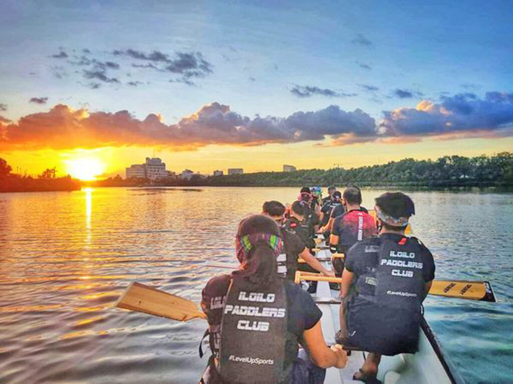 Iloilo Paddlers Club at sunset