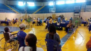 Vaccination at the CPU Gym, Iloilo City